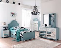 Youth Bedroom Set With Desk Ashley Mivara Tiffany Turquoise Blue Girls Kids French Inspired