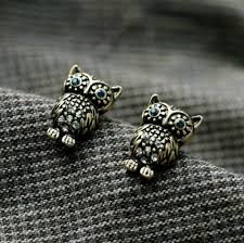 owl stud earrings vintage inspired rhinestone small owl stud earrings wholesale