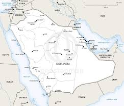 Map Of Al Vector Map Of Saudi Arabia Political One Stop Map