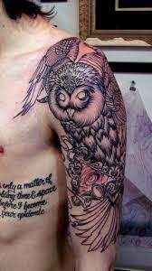 Owl Shoulder - awesome shoulder owl tattoomagz
