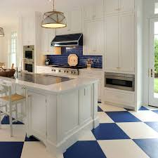 white kitchen cabinets with tile floor 75 blue backsplash ideas navy aqua royal or coastal
