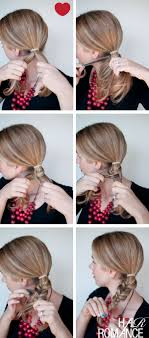 put your hair in a bun with braids how to fishtail braided bun hairstyle hair romance