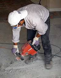 removing ceramic tiled floors on concrete tools