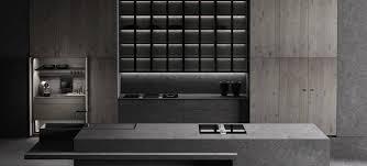 contemporary kitchen wood veneer stone island luxury argus