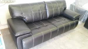Scs Leather Sofas New Scs Black Leather Endurance Infinity 3 Seater Sofa â 380 2
