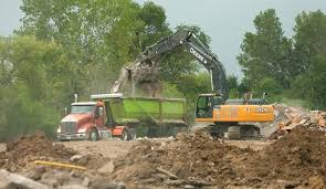 Arkansas pilot travel centers images Buildings razed for pilot truck stop warehouse in carol stream jpg&a