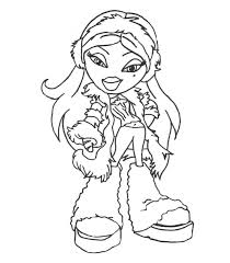 bratz colouring pages cloe colouring bratz monster moxie