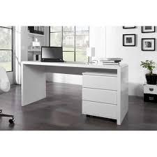 bureau blanc brillant bureaux adultes bureau professionnel design 160 cm coloris blan