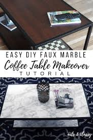 coffee table cost diy faux marble coffee table makeover tutorial arts and classy