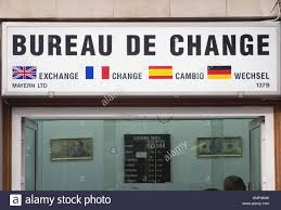bureau de change 2 bureau de change change shop gibraltar uk stock photo royalty