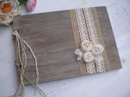 rustic wedding albums best shabby chic wedding guest books products on wanelo