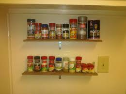 Wooden Spice Rack Wall In Shelf Spice Rack Best Cabinet Decoration