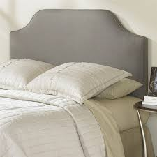 King Size Tufted Headboard King Size Upholstered Headboard In Dolphin Grey Taupe Polyester
