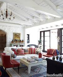 House Beautiful Circulation Red White And Blue Living Room U2013 Modern House