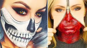 top 25 diy easy halloween makeup tutorials compilation 2017 cute