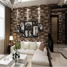 chambre culture beibehang 3d stéréo culture brique papier peint salon chambre tv