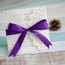 purple and white wedding fall purple laser cut wedding invitations ewws045 as low as 1 99