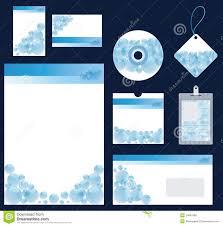 stationery set blue stationery set for company vector format stock photo image