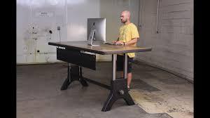 Industrial Standing Desk by Hure Sit Stand Desk U2013 Vintage Industrial Furniture