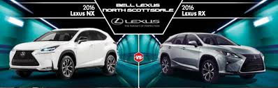 lexus nx phone app 2016 lexus nx vs 2016 lexus rx in north scottsdale az bell lexus
