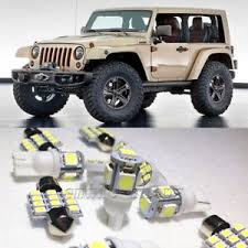 jeep wrangler unlimited interior lights 13 white led interior lights package kit for jeep wrangler sport