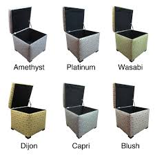 Noble House Chelsea Storage Ottoman Upholstered Storage Ottoman Home Furnishings