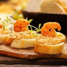 canapé toast recette toasts de mousse de crevettes facile rapide