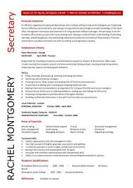 Legal Secretary Resume Samples by Secretary Resume Examples Appealing Legal Secretary Resume 7