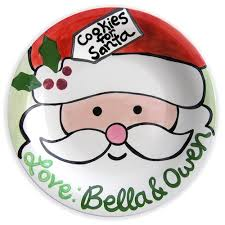 keepsake plates santa plates aimee j keepsakes christmas personalized gifts
