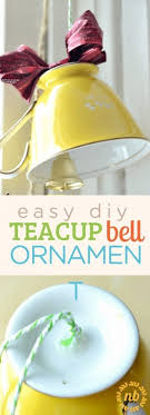 how to make a diy teacup bell ornament nelliebellie