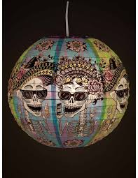day of the dead hanging paper lantern blue q home gifts