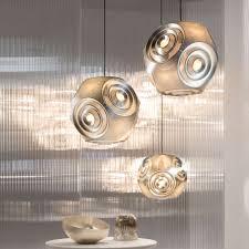 Schlafzimmer Lampe Silber Kurve Anhänger Hängelampe Gold Silber Farbe Suspension Leuchte Für