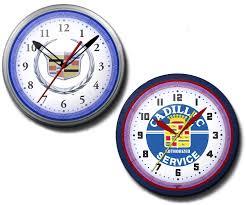 logo cadillac cadillac neon clocks high quality 20 inch wreath service vintage