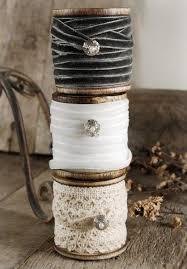 spools of ribbon ribbon twine wood spool and hessian