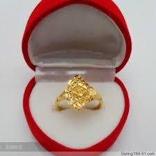 bridal gold ring 2017 ms fan shaped ring wedding ring imitation gold ring