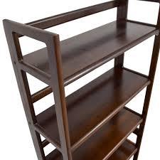 41 off cherry wood six shelf bookshelf storage