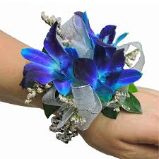 royal blue corsage blue orchids with blue wristlet corsage cbcpas05 flower