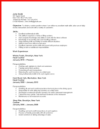 Example Of Cashier Resume by Resume Fast Food Resume Sample 100 Resume Sample Waitress