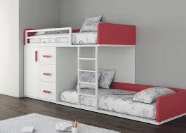 chambre fille avec lit superposé lit superpose avec rangements pour enfant fille touch ros fillette