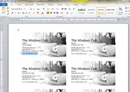 Create Business Card Free How To Design Business Cards Using Microsoft Word 2010