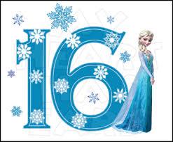disney u0027s frozen elsa birthday number 16 instant download