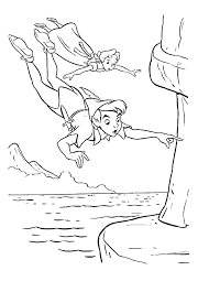 peter pan coloring pages getcoloringpages