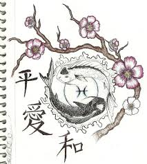 zodiac pisces koi fish tattoo sketch photos pictures and