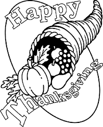 thanksgiving cornucopia coloring page crayola