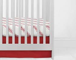 red crib bedding etsy