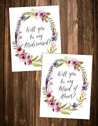 bridesmaid invitations template free will you be my bridesmaid printables