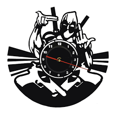 handmade acrylic time clock marvel comic deadpool wall clock home