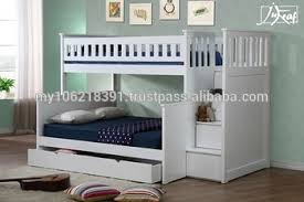 Wooden Triple Bunk Bed In White Good Quality Buy Kids Bunk Bed - Good quality bunk beds
