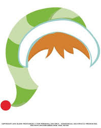 christmas photo booth props hat hair printable photo booth prop label
