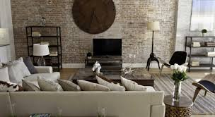 living room modern indian living room with decorative brick wall